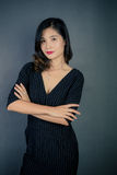 Chinese women. Modern Chinese woman also pay attention to the style to show their own style Royalty Free Stock Images