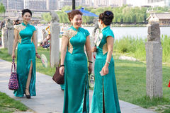 Chinese women in qipao Stock Photography