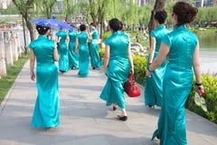 Chinese women in qipao Stock Photos