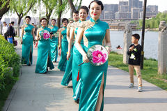 Chinese women in qipao Stock Image