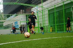 Free Chinese Women`s Football Training Stock Photography - 111491312