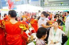 Chinese women's makeup preparation Royalty Free Stock Photo