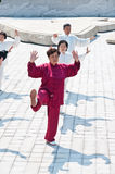 Chinese women's tai chi Stock Images