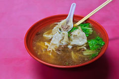 Chinese wonton noodles Stock Photo