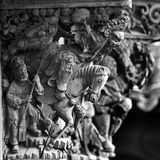 Chinese Wood Carving Stock Photography