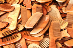 Chinese wood combs Royalty Free Stock Photo