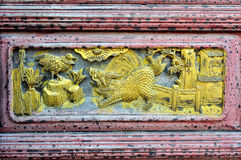 Chinese woodcarving Stock Image