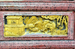 Chinese woodcarving Stock Photos