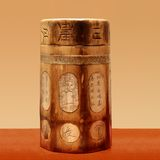 Chinese wooden ancient box stock image