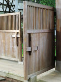 Chinese Wooden Bolt door Stock Images