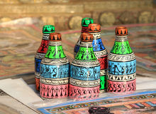 Chinese wooden bottles Royalty Free Stock Photo