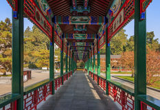 Chinese wooden Cloister stock images