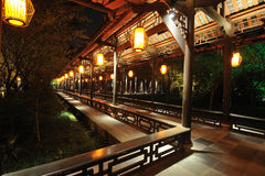 Free Chinese Wooden Corridor Stock Photography - 25862622