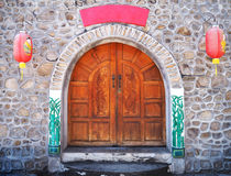Chinese wooden door style Royalty Free Stock Images