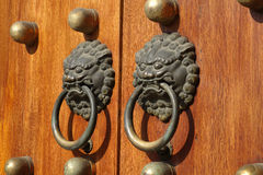 Chinese wooden door Royalty Free Stock Image