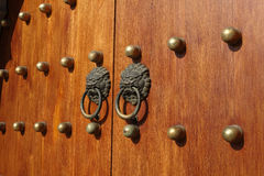 Chinese wooden door Royalty Free Stock Photos