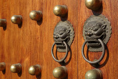 Chinese wooden door Stock Photo