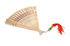 Chinese wooden folding fan Stock Photography