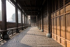 Chinese wooden gallery Royalty Free Stock Photos