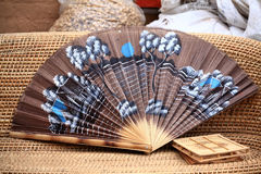 Chinese wooden hand fan Stock Photos