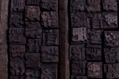 Chinese wooden letter cases Stock Photos