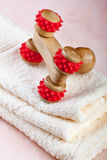 Chinese wooden massage tool. Chinese wooden tool for massage Royalty Free Stock Photo