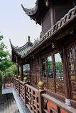 Chinese wooden pavilion in ancient style Royalty Free Stock Photo
