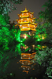 Chinese wooden tower in Chengdu Stock Images