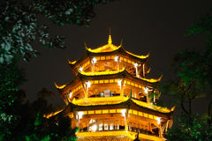 Chinese wooden tower in Chengdu Royalty Free Stock Photography