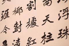 Chinese Word,Chinese Calligraphy. Chinese Word ,Chinese Calligraphy in rice paper Royalty Free Stock Photo