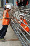 Chinese worker construction  lattice Stock Photo