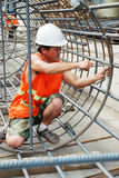 Chinese worker construction  lattice Stock Photography