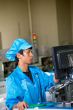 Chinese worker on factory in Shenzhen Stock Photography