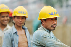 Chinese workers royalty free stock images