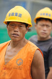 Chinese workers royalty free stock photos