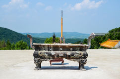 Chinese Worship  Incense burner Royalty Free Stock Image