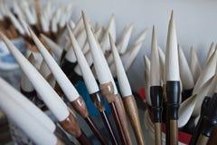 Chinese writing brush Royalty Free Stock Images