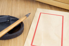 Chinese writing brush. Stock Images
