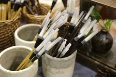 Chinese writing brush Stock Photo