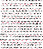 Chinese writing with translation. Vector english name in chinese translation Royalty Free Stock Photography