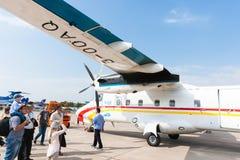 Chinese Y12F passagiersvliegtuigen op vertoning bij Zhukovsky-vliegveld Stock Afbeelding