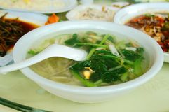 Chinese yangzou food qincaitang Stock Image
