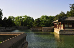 Chinese yard. The chinese style yard located in the Summer Palace which used to be a royal garden is the most beautiful one of park of Beijing today stock photography