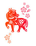 Chinese year of Horse vector illustration