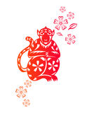 Chinese year of Monkey Stock Image