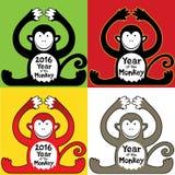 Chinese year of the monkey design  illustration Stock Photos