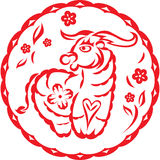 Chinese year of OX Cow Stock Image