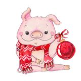 Chinese Year of the pig stock illustration