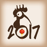 2017 Chinese Year of the Rooster poster. Vector illustration Royalty Free Stock Photos