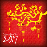 2017 Chinese Year of the Rooster poster. Vector illustration Royalty Free Stock Images